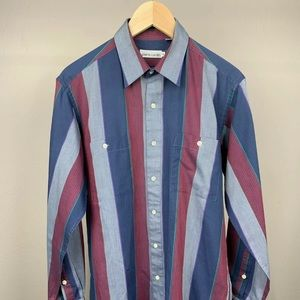 VTG*PIERRE CARDIN Sz Med Mens Striped Button Shirt